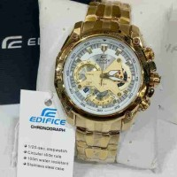 Jual CASIO EDIFICE EF 550 GOLD WHITE DIAL Murah