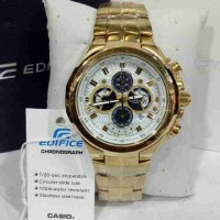 Jual CASIO EDIFICE EF 554 GOLD WHITE DIAL Murah