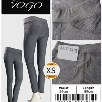 Vogo Activewear Sport Legging With Back Pocket - 33817130317AC SIZE XS