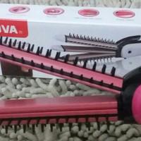 Jual Catok Nova 3in1 Iron Brush / Catokan Sisir + Keriting + Lurus Murah