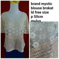 Jual blouse brokat import Murah