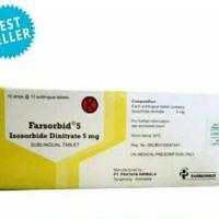 fasorbid 5mg (isosorbid dinitrate)/lembar
