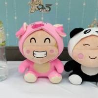 Boneka Cici Yoyo Kostum Panda Babi Yelpo Halus