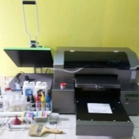 Printer DTG A3 B-JET SUPER + mesin press 250watt + bonus kaos oblong