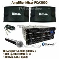 Paket Sound Karaoke BMB Speaker 10in dan Amplifier FCA3000