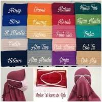Jual Masker Kain Tali Karet hijab/Masker Hijab Murah