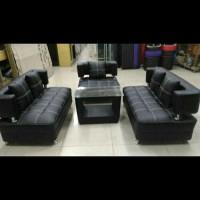 sofa minimalis hitam update terbaru / kursi ruang tamu