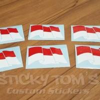 Jual Stiker Bendera Indonesia Sang Saka Merah Putih Murah