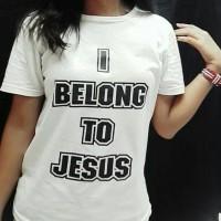Jnpcollection/Kaos cewek/Tumbrl tee/T-shirt cewek/I Belong To Jesus
