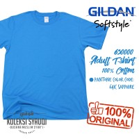 Jual [KOLEKSI SYAUQI] Kaos Polos Gildan Softstyle - Sapphire 2XL Murah
