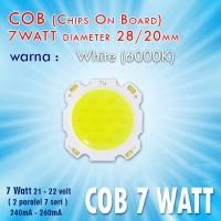 LED HPL 7 Watt Besar Warna Putih / White COB