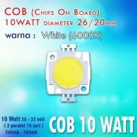 LED HPL 10 Watt Sedang Warna Putih / White COB
