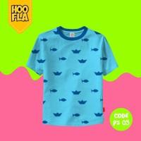 Baju Anak t shirt Kaos Atasan PATTERN Laki Cowo Cewe HOOFLA PS05 XS/S
