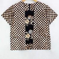 Blouse Batik Jesica Black Brown AA