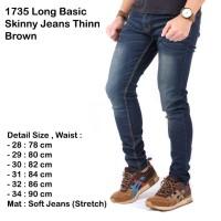 Jual celana panjang navy jeans / skinny jeans pria navy / jeans slimfit Murah