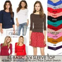 Jual sabrina basic top - blouse wanita spandek rayon Murah