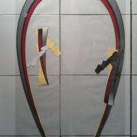 Stiker Striping Motor Honda Scoopy 2012 Hitam-Merah