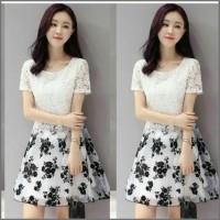 Jual MTF - Dress Fashion Lace Flower Daisy  Murah