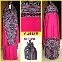 Jual Mukena Bali Songket Dewasa & Remaja Semi Jumbo - MU418E (Pink Fanta) Murah