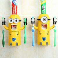 Jual Tempat sikat dispenser odol pasta gigi karakter MINION bathroom set Murah