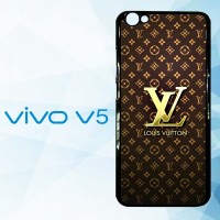 Casing Hardcase HP Vivo V5 Louis Vuitton Gold X4869