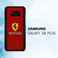 Casing HP Samsung Galaxy S8 Plus Ferrari Chrome Logo X4860