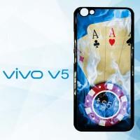 Harga casing hardcase hp vivo v5 blue fire ace cards | Pembandingharga.com
