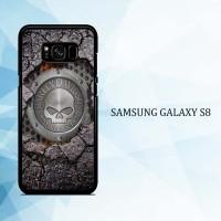 Casing HP Samsung Galaxy S8 Harley Davidson Skull X4487