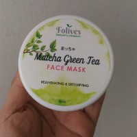Folives Matcha Green Tea Face Mask 100% Natural / Masker bubuk organik