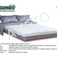 Kasur Latex Back Pedic 160x200x26 cm - Guhdo Spring bed