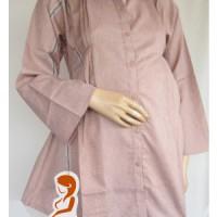Jual Baju Hamil Kerja dan Menyusui Lurik Panjang AP126 Murah