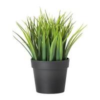 Tanaman Hias +POT Ruang Tamu Kamar Cafe Ikea FEJKA Bunga Rumput Palsu