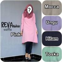 Baju Atasan Dress Batik Pakaian Wanita Baru  REVA TUNIC WAFFLE