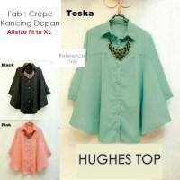 Baju Atasan Dress Batik Pakaian Wanita Baru  HUGHES TOP ( BIG SIZE )