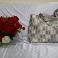 DKNY White Tote Bag/Tas Original Import Murah