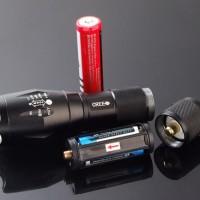 Jual Senter LED Cree Laser Terang E17 XM-L T6 2000 Lumens 18650 / 3 x AAA-1 Murah