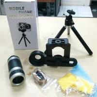 Jual Lensa Tele 8X Zoom - Tripod Mini Untuk Smartphone Original Murah