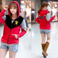 Jual Paling Murah SALE Jaket Pikachu Merah  jaket wanita babyterry merah Murah