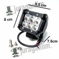 Jual Lampu Tembak MOTO - LED Spot DRL PURE CREE XB-D [6x3W] Mobil & Motor Murah