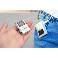 Pod MP3 Player TF Card dengan Klip & LCD - Silver