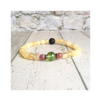 Jual Gelang batu yoga diffuser essential oil happy peridot red ruby. Murah