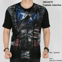 Jual baju kaos cowok captain america 3D civil war superhero spiderman Murah