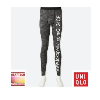 CELANA LONGJOHN PRIA UNIQLO HEATTECH TIGHTS 400233 MOTIF GARIS black