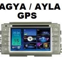 TV Mobil Double din OEM Agya Ayla GPS