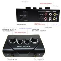 Karaoke Echo Tune Bass Vol Mixer Amplifier Mic Pengeras Suara Mikrofon