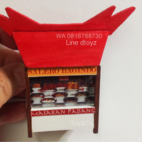 Miniatur Clay Magnet Kulkas Warung Padang
