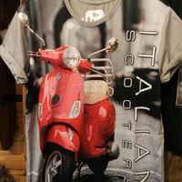 Jual Kaos Full Print Thailand 3D Otomotif Vespa 2408 Murah