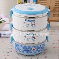 Lunchbox Tempat Makan Rantang Susun 3 Doraemon Bukan Tupperware