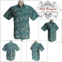 Baju Batik kalimantan Hijau