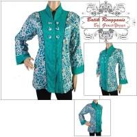 Baju Wanita Batik Kerja Motif Kalimantan Hijau